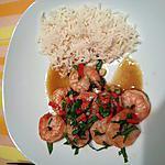 recette Crevettes sautées au basilic