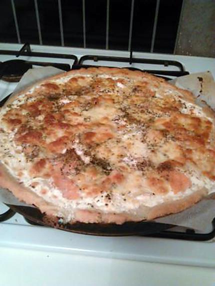 recette de pizza saumon par notre amour de cuisine