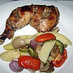 recette Mon poulet au four et ses légumes