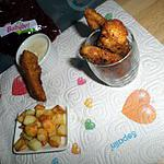 Frites de poulet et sa sauce au babybel