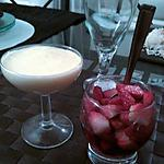 Mousse de mascarpone nature et ses fraises au sucre