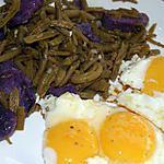 recette Haricots verts/vitelotte en salade