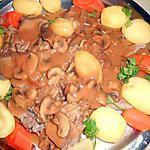 Langue de veau sauce madére