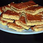 recette carrés au sirop d'érable