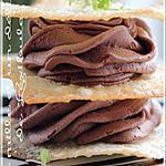 recette ~Mousse chocolat et café en étagé de wontons~