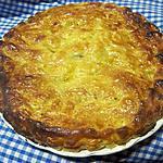recette Feuilletée aux pommes sur une crème calisson.