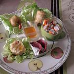 recette assiette  du  jour      avec idée de soua  gaspacho avocat,pamplemousse  ;;