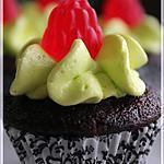 recette ~Mini cupcakes au chocolat garni de gelée de baie~