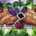 recette Filets de merlan frits accompagnés.