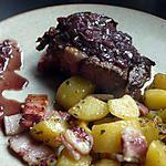 recette cote de boeuf sauce marchand de vin et ses p de terre aux lards