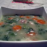 recette Soupe au poulet et choux frisé ( kale )