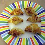 recette Minis croissants jambon et emmental
