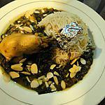 recette Curry de poulet aux lentilles et épinards (plat de régime)