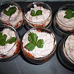 recette Verrines de mousse de jambon et tomates séchées