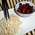 Sautés de poulet au caramel et ses ramens (nouilles chinoise)