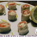 recette Bouchées de feuille de brick au saumon et St-Moret