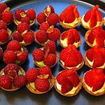recette mignardises tartelettes framboises & tartelettes fraises