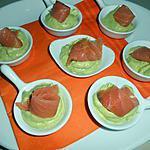 recette Poellons de purée d'avocat  et de saumon fumé