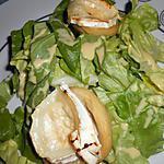 recette Fonds d'artichauds chèvre miel sur nid de salade