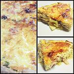 QUICHE AU SAUMON & COURGETTES