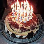 Gâteau au chocolat noir et lanc