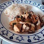 recette poulet au légume au wok