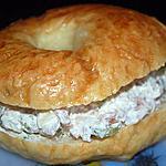 recette bagel au fromage frais et bacon