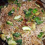 recette Nouilles de riz au concombre