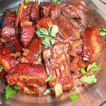 recette Travers de porc au miel et gingembre