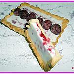 recette tarte framboises panna cotta vanille