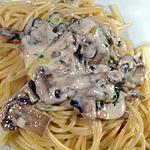 recette Pates aux champignons et à l'huile de truffes