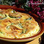 recette Flan de courgettes aux deux fromages