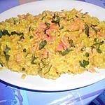recette RISOTTO  AL SALMONE  AFFUMICATO  (au saumon fumé)
