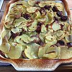 recette Etouffé de pommes de terre et saucisse fumées
