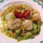 recette Saint-Jacques aux petits légumes, recette inspirée par christi90