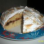 recette gâteau meringué à la confiture de fraise