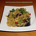 recette RISOTTO DE COQUILLETTES AUX CHAMPIGNONS DES BOIS