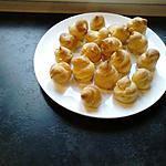 recette petits choux salé à la chantilly citronné /et àla ricotta concombre