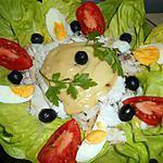 recette Assiette de poisson froid a la mayonnaise