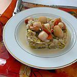 recette noix de St- Jacques sur fondue de poireaux ( dietetique)