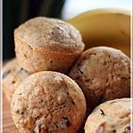 recette ~Muffins santé aux bananes et aux dattes~