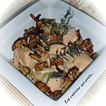 recette Blanquette de saumon aux girolles au miel, moutarde et thym