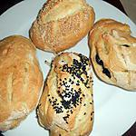 recette Petits pains olives,sésame,nigelle
