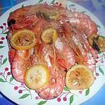recette GAMBAS  AL  LIMONE  (au citron)