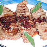 Faux filet sauce bourguignonne a la sauge