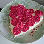 Bouquet de roses en coeur gourmand