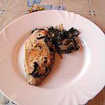 recette Blanc de poulet aux champignons des bois