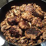 recette Boulette au champignon