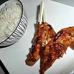 recette Brochettes de poulet yakitori