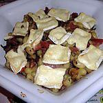 """recette Gratin de gnocchi au jambon, champignons et caprice des Dieux """""""" DE rolly """""""""""